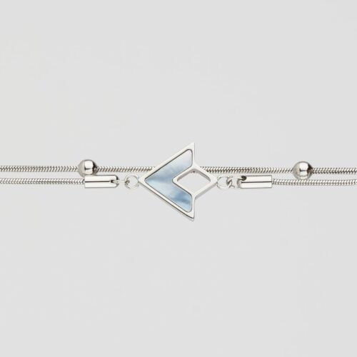 Bracelet Conceptual (Nacre bleue/Argent)