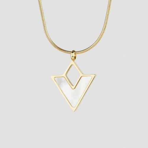 Conceptual Halskette (Perlmutt/Gold)
