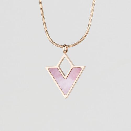 Conceptual Halskette (Rosa Perlmutt/Rosé)