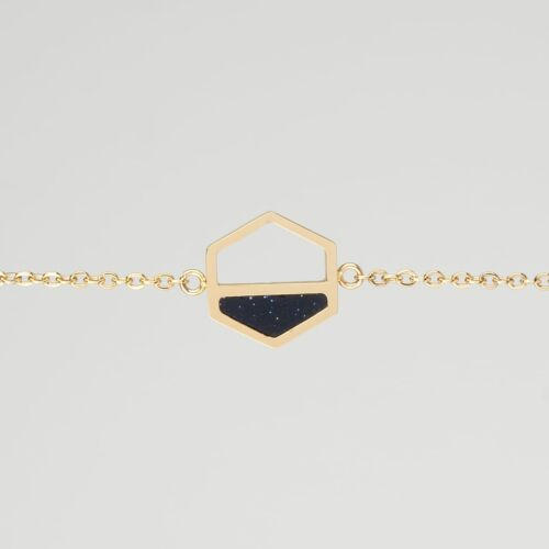 Assemblage Armband (Sandstein/Gold)