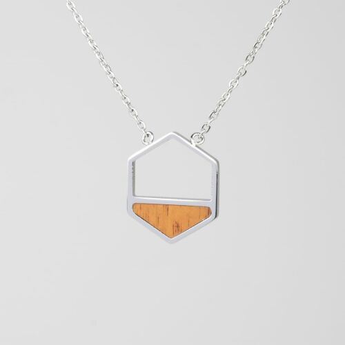 Assemblage Necklace (Koa/Silver)