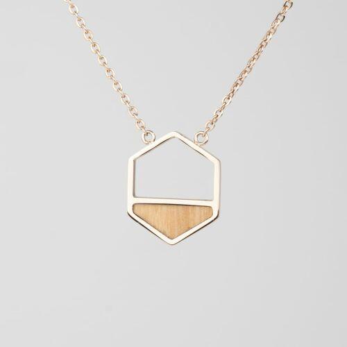 Assemblage Halskette (Olive/Rosé)