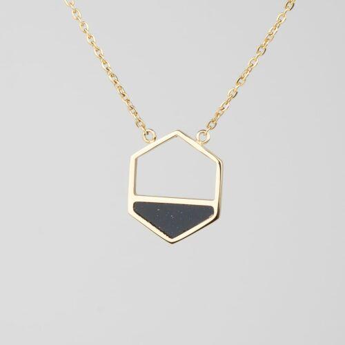 Assemblage Halskette (Sandstein/Gold)