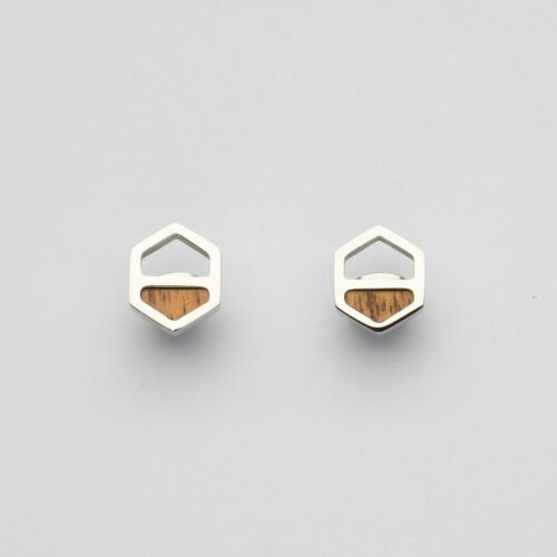 Assemblage Ohrringe (Koa/Silber)