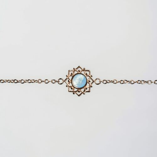 Composition Bracelet (Blue Nacre/Rose Gold)