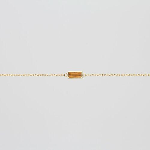 Contour Armband (Zebrano/Gold)