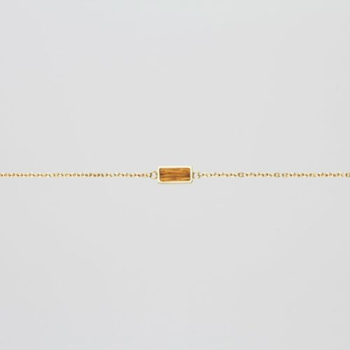 Bracelet Contour (Zebrawood/Or)