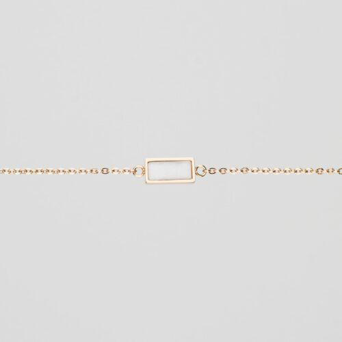 Bracelet Contour (Marbre/Or Rose)