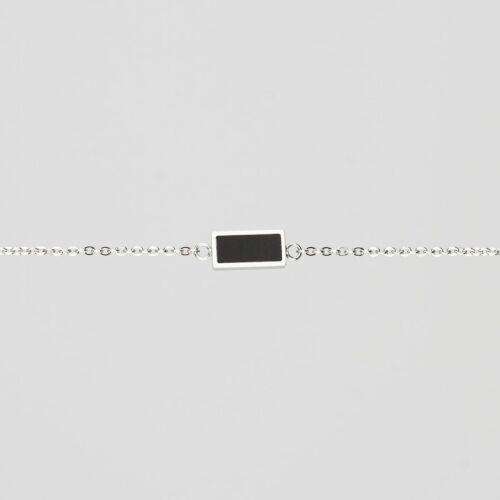 Bracelet Contour (Ardoise/Argent)