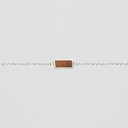 Contour Armband (Koa/Silber)