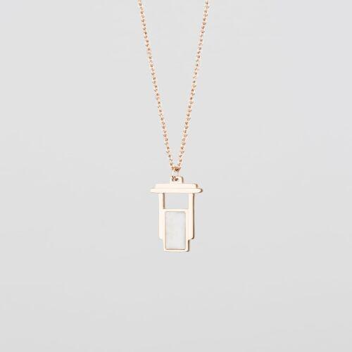 Contour Halskette (Marmor/Rosé)