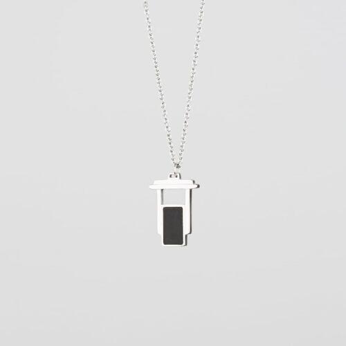 Contour Necklace (Slate/Silver)