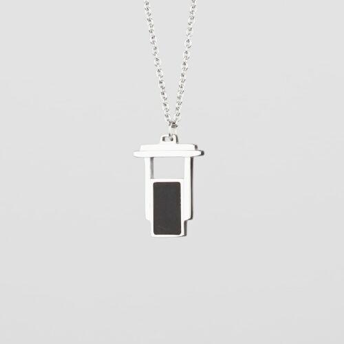 Contour Halskette (Schiefer/Silber)
