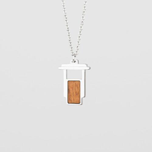 Contour Halskette (Koa/Silber)
