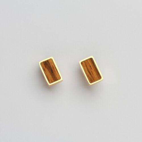Contour Ohrringe (Zebrano/Gold)