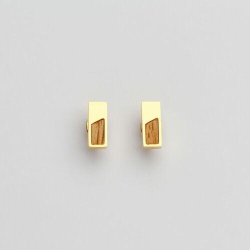 Boucles d'oreilles Ephemera (Koa/Or)