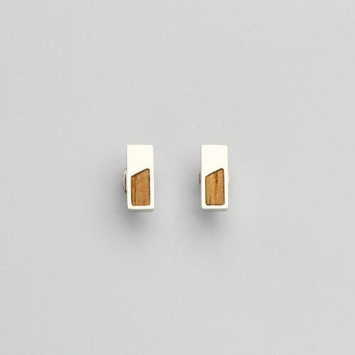 Ephemera Ohrringe (Marmorholz/Silber)