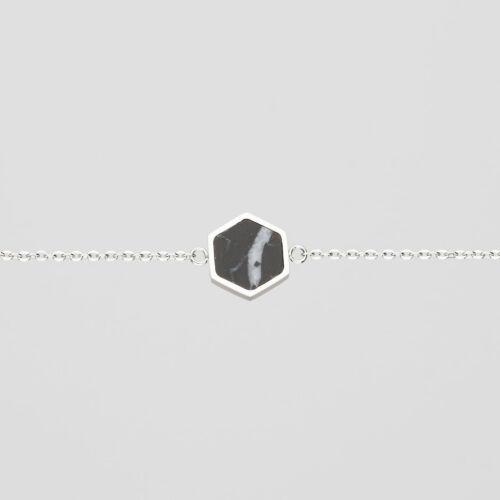 Facade Armband (Marmor/Silber)