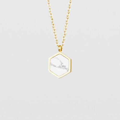Facade Halskette (Türkis/Gold)