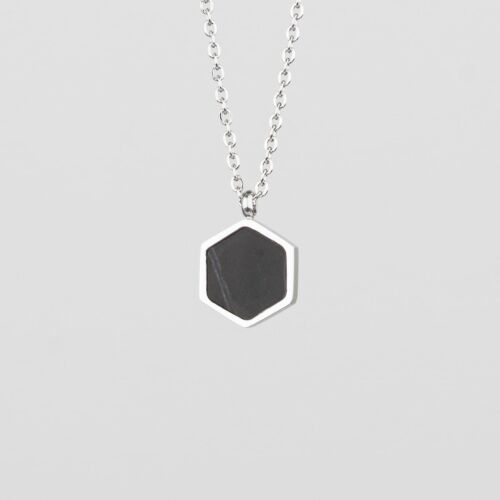 Facade Necklace (Marble/Silver)