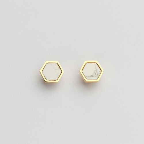 Facade Earrings (Turquoise/Gold)