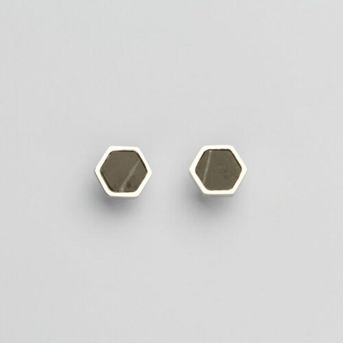Orecchini Facade (Marmo/Argento)