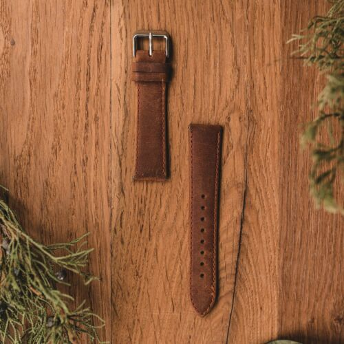 Strap Max 20mm (Brown/Silver)