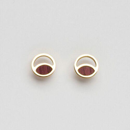 Boucles d'oreilles Perception (Amarante/Or)