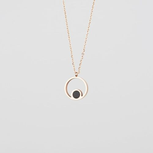 Pigment Necklace (Marble/Rose Gold)