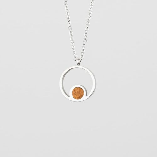 Pigment Necklace (Koa/Silver)
