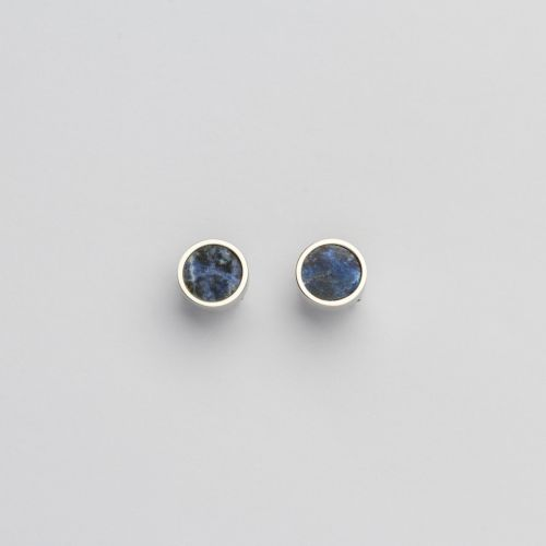 Pigment Earrings (Marble/Silver)