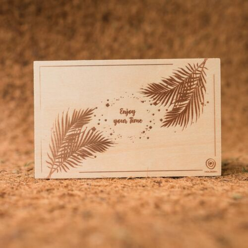 Wooden postcard Enjoy