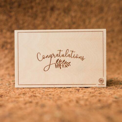 Postal de madera Congratulations