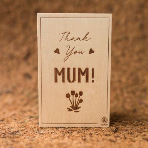 Holzpostkarte Mum