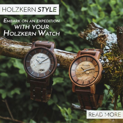 Embark on an expedition with your Holzkern Watch