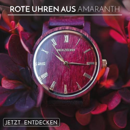 Uhren aus wertvollem Amaranthholz