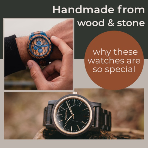 Handmade from wood and stone
