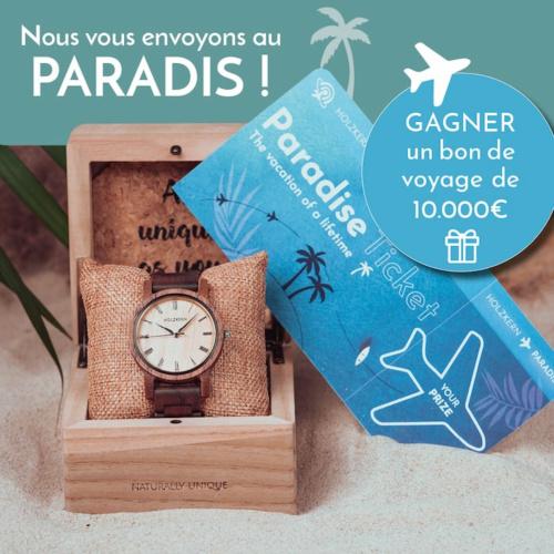 Le Holzkern Paradise Ticket - gagnez dès maintenant un bon de voyage de 10 000 €