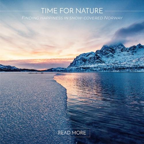 Trouver le bonheur dans une Norvège enneigée