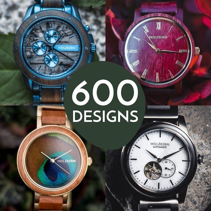 600 Holzkern Designs: jedes Modell ein Unikat