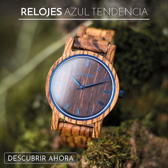 La madera se encuentra con el color azul de moda