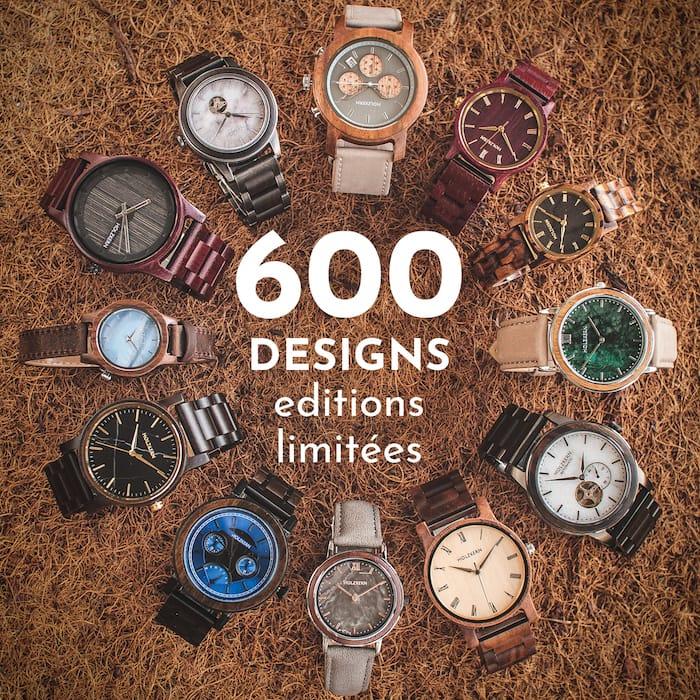 Plus de 600 designs disponibles