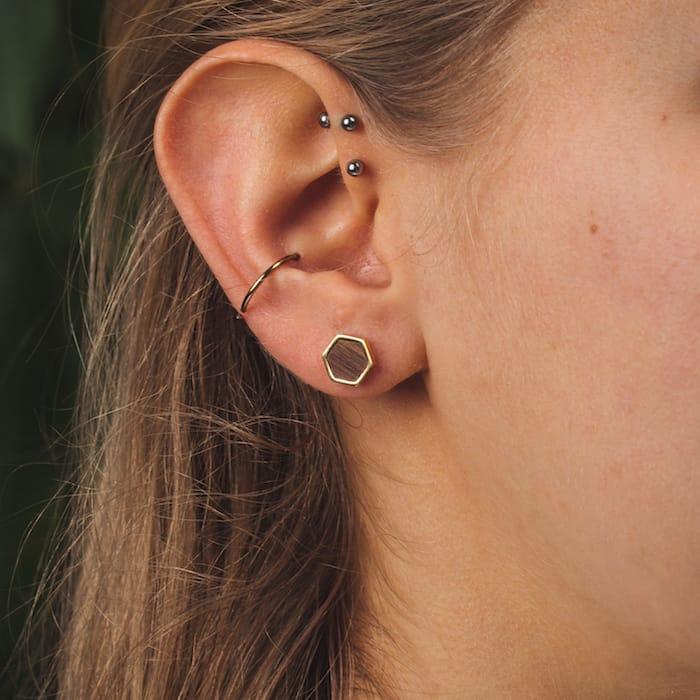 Boucles d'oreilles Facade