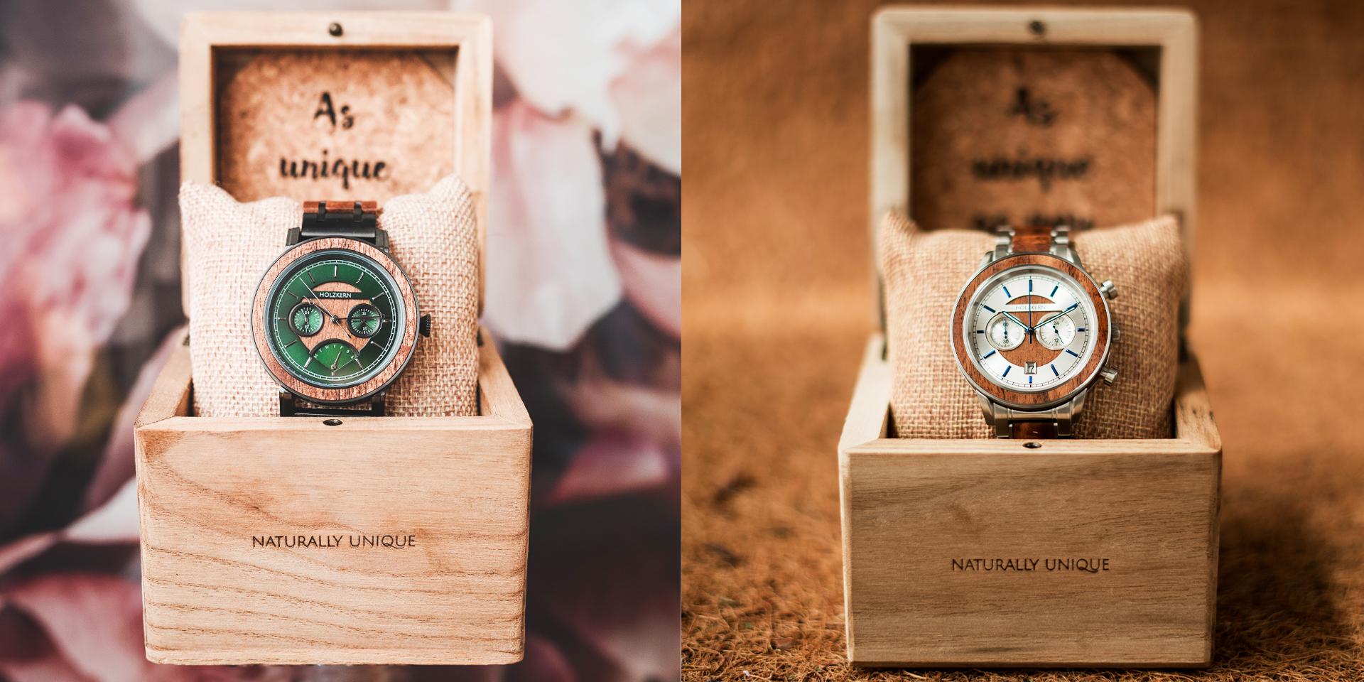 Farbenfrohe Uhren
