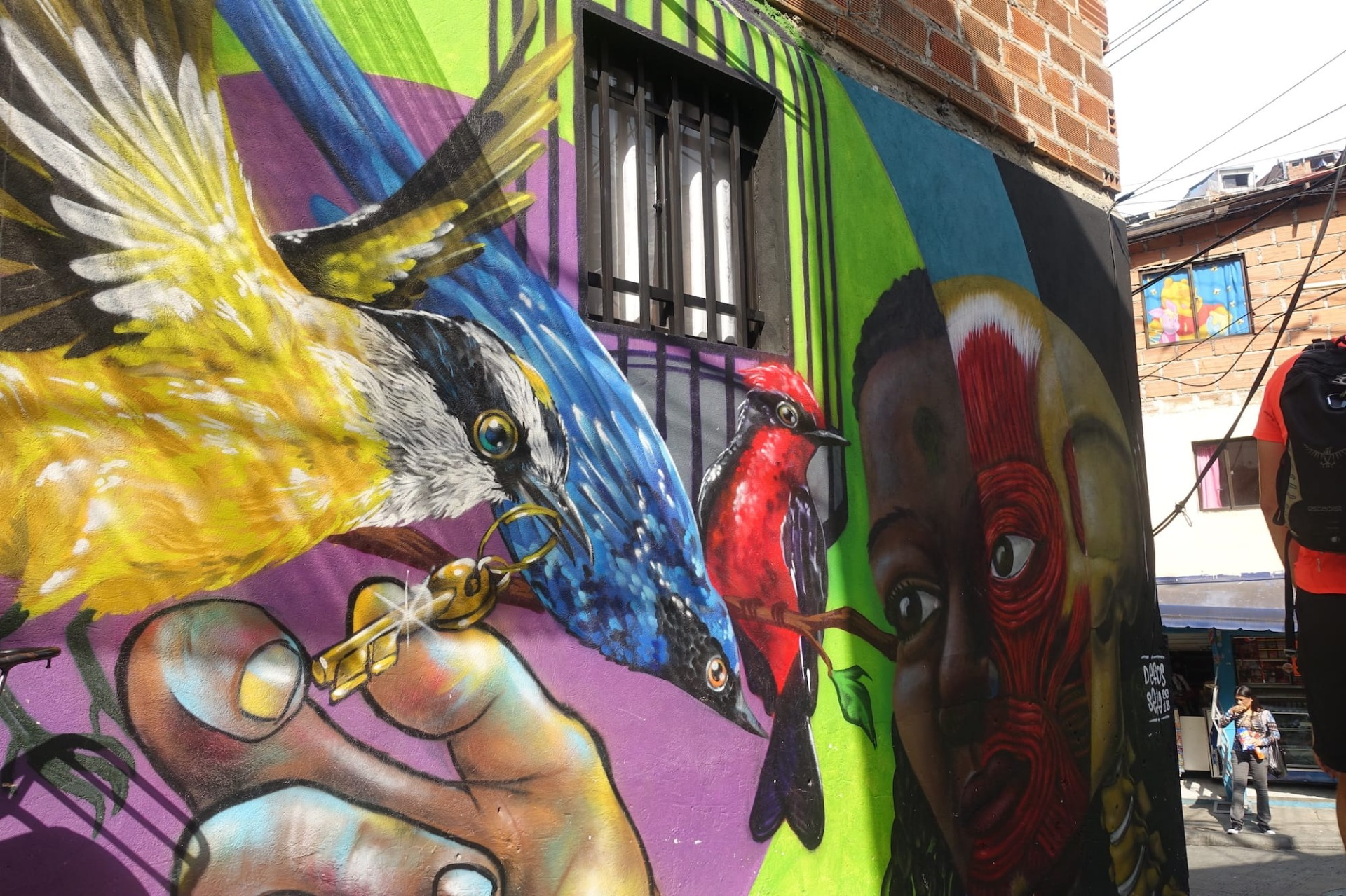 Murale di un uccello