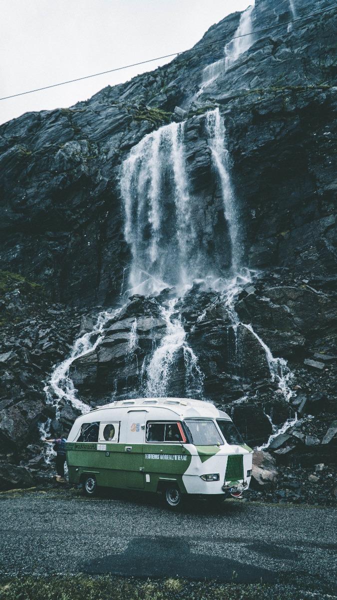 Wasserfall VW Bus