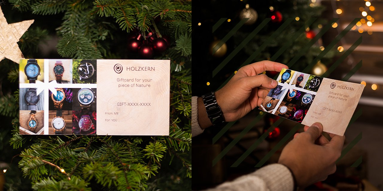 Holzkern Geschenkkarten