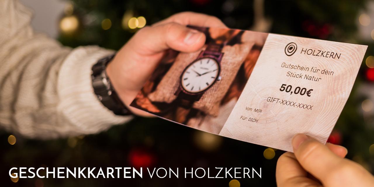 Geschenkkarte von Holzkern
