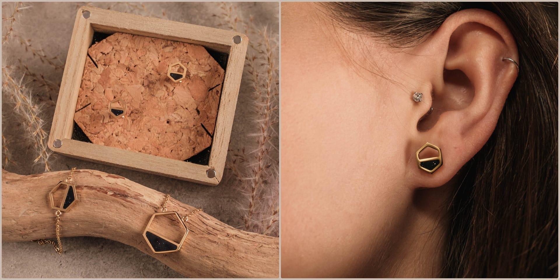 Boucles d'oreilles Assemblage