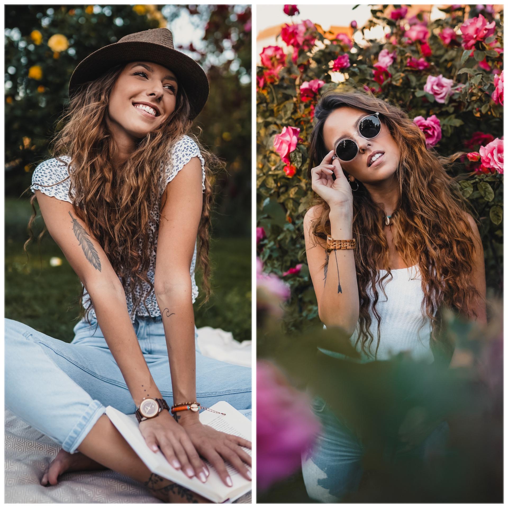 Mädchen mit Hut und Brille